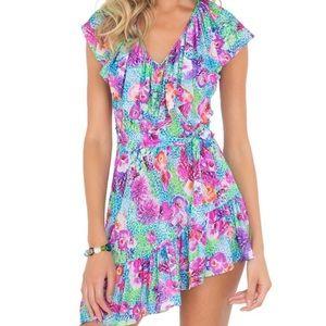 Luli Fama Pequeno Paraiso Ruffled Dress Coverup
